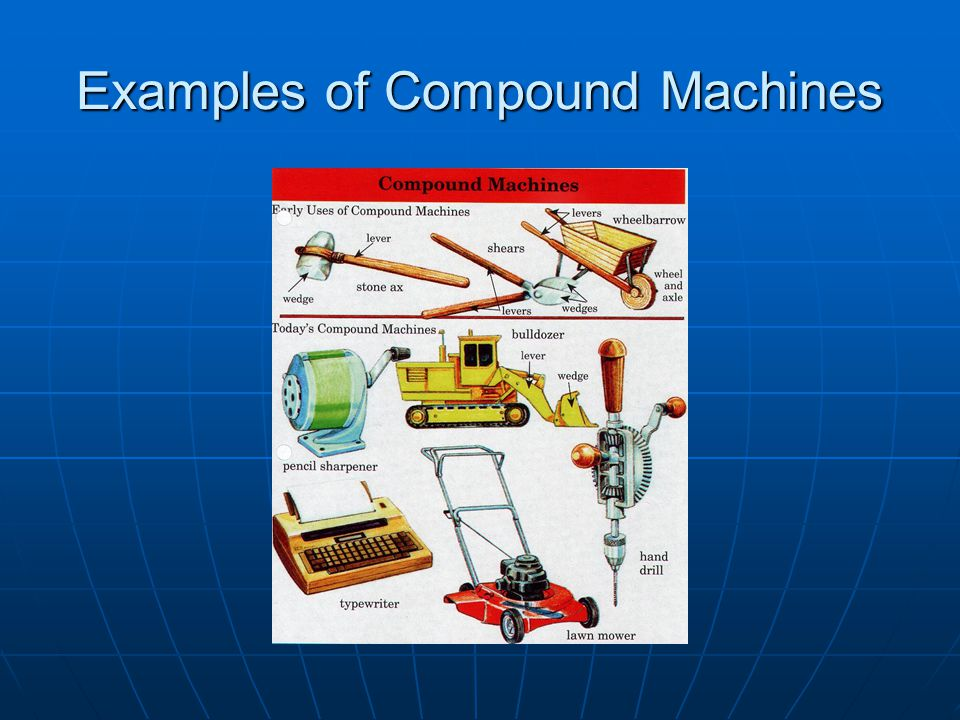 Examples of Compound Machines