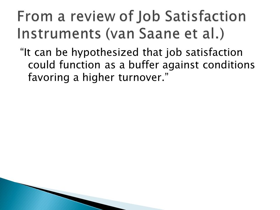  Multiple sources of motivation, including intrinsic and extrinsic motivation makes worker more satisfied with their job.