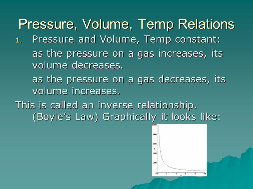 Pressure, Volume, Temp Relations 1.