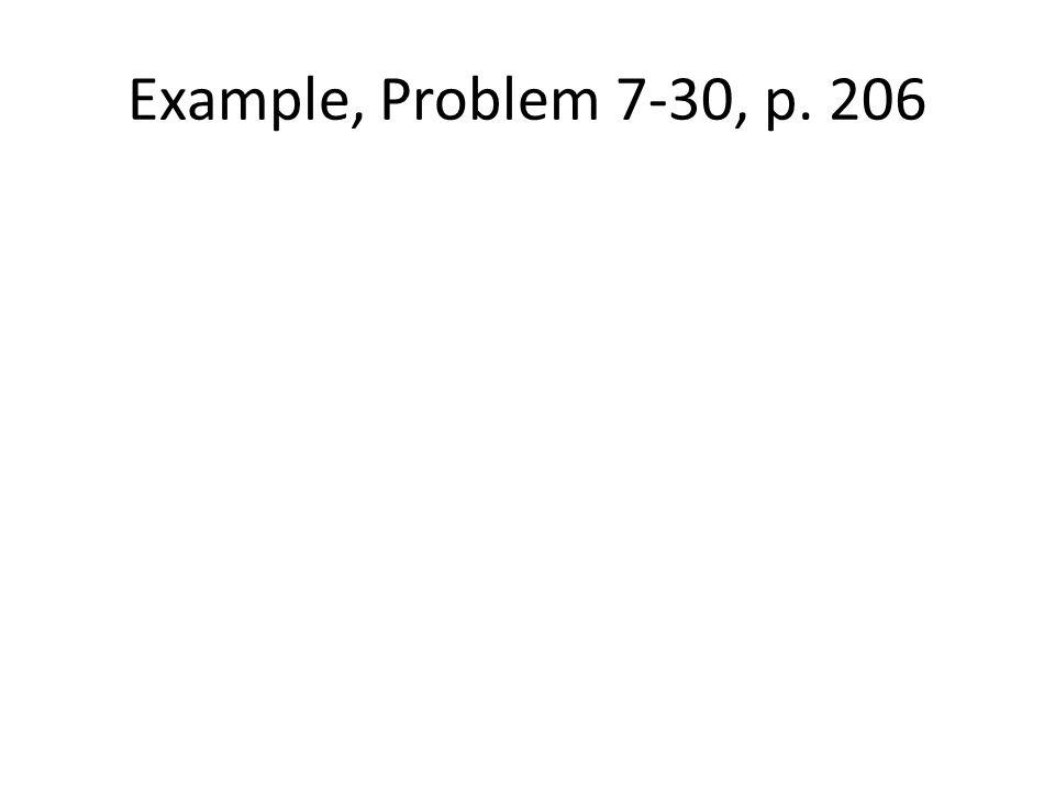 Example, Problem 7-30, p. 206