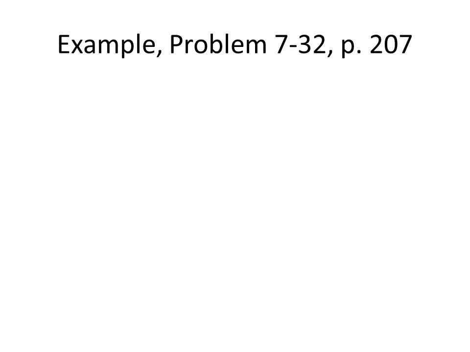 Example, Problem 7-32, p. 207