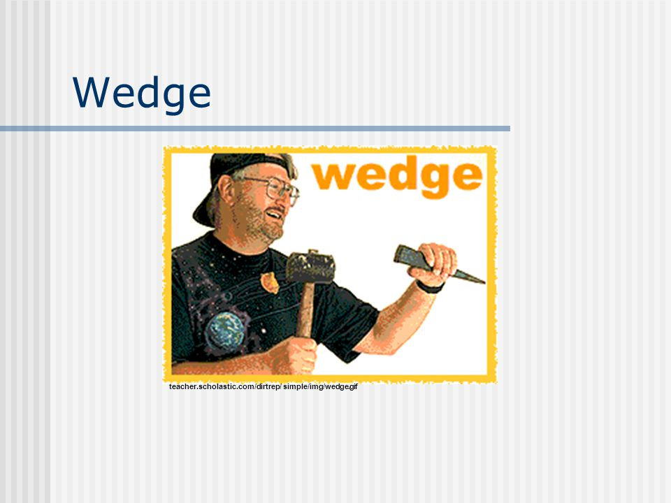 Wedge teacher.scholastic.com/dirtrep/ simple/img/wedge.gif
