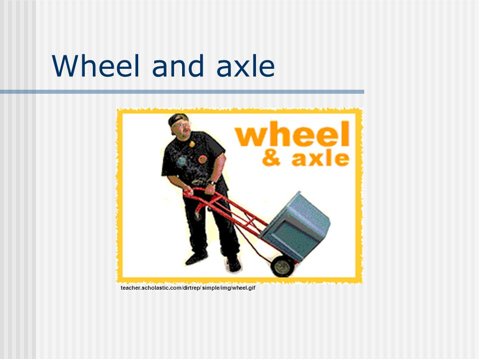 Wheel and axle teacher.scholastic.com/dirtrep/ simple/img/wheel.gif