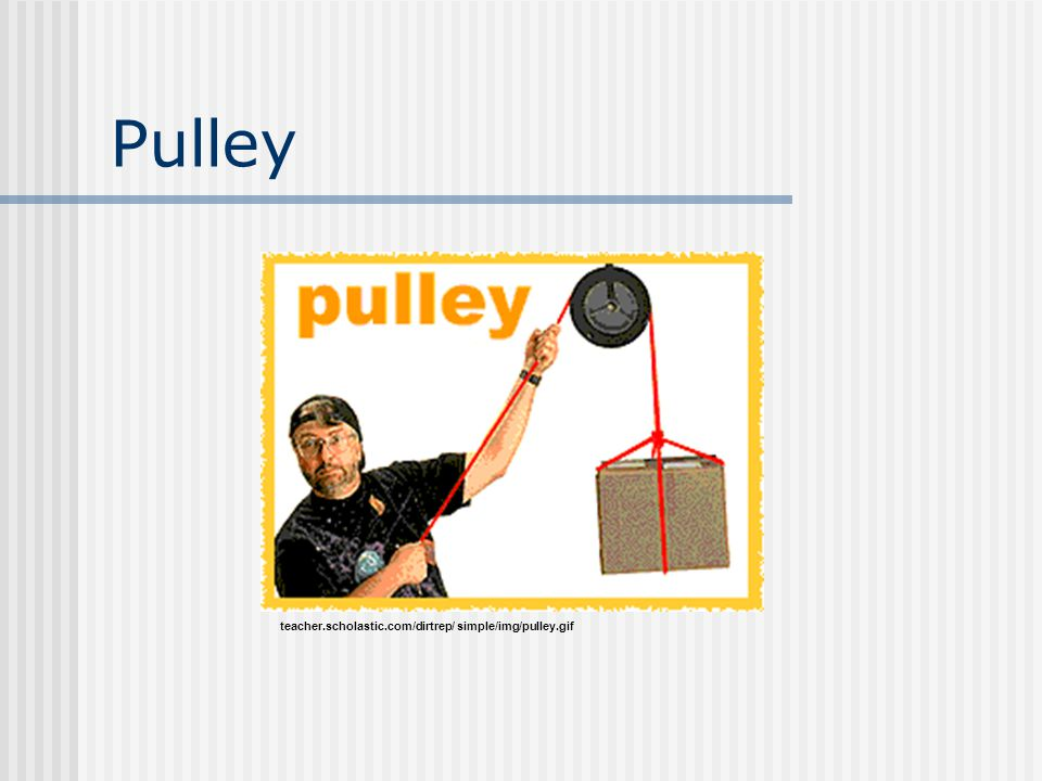 Pulley teacher.scholastic.com/dirtrep/ simple/img/pulley.gif