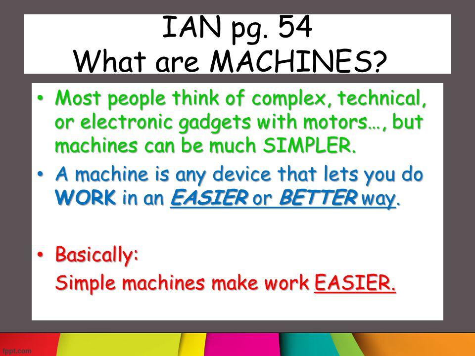 How do machines do work.