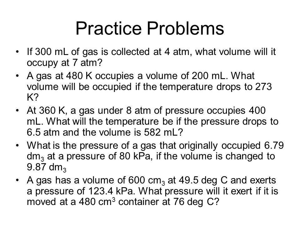Homework Ideal Gas Law w/s Gas Laws Quiz –Friday!!