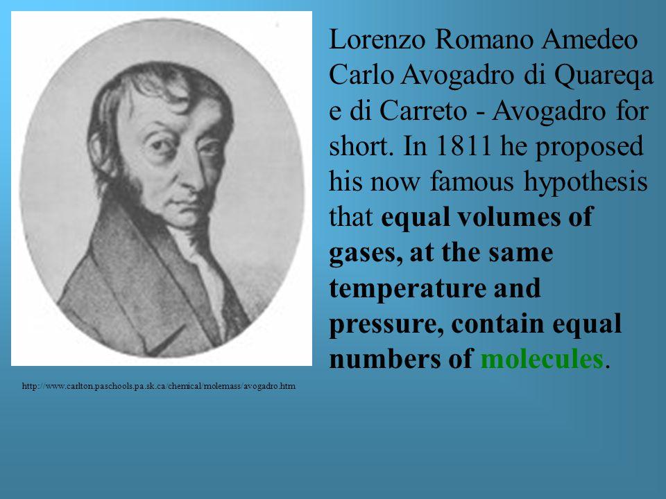Lorenzo Romano Amedeo Carlo Avogadro di Quareqa e di Carreto - Avogadro for short.