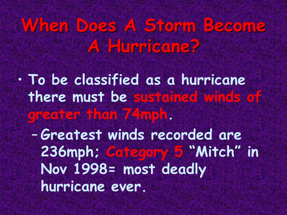 When Does A Storm Become A Hurricane.