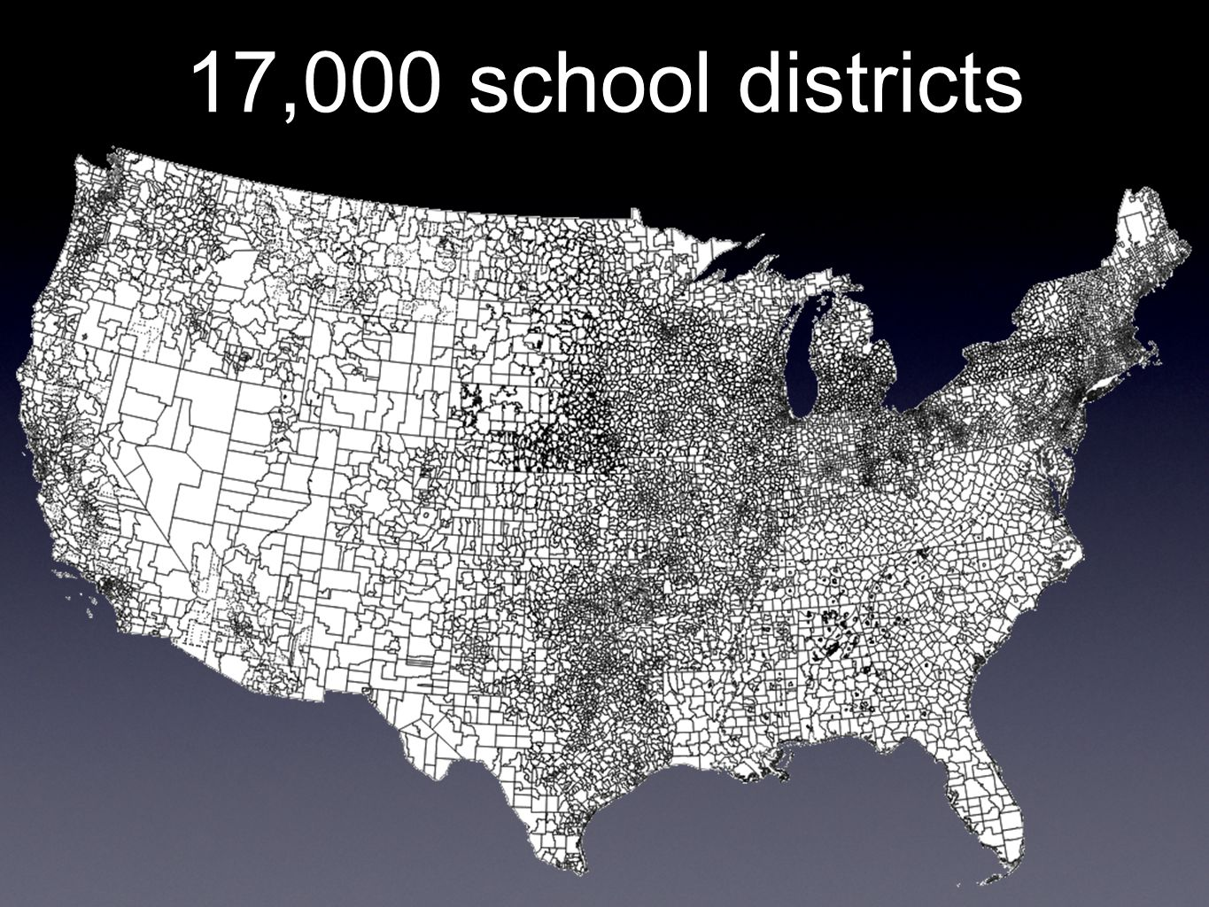 17,000 school districts
