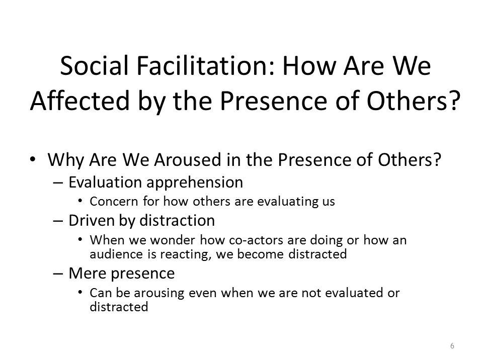 Social Facilitation: How Are We Affected by the Presence of Others.