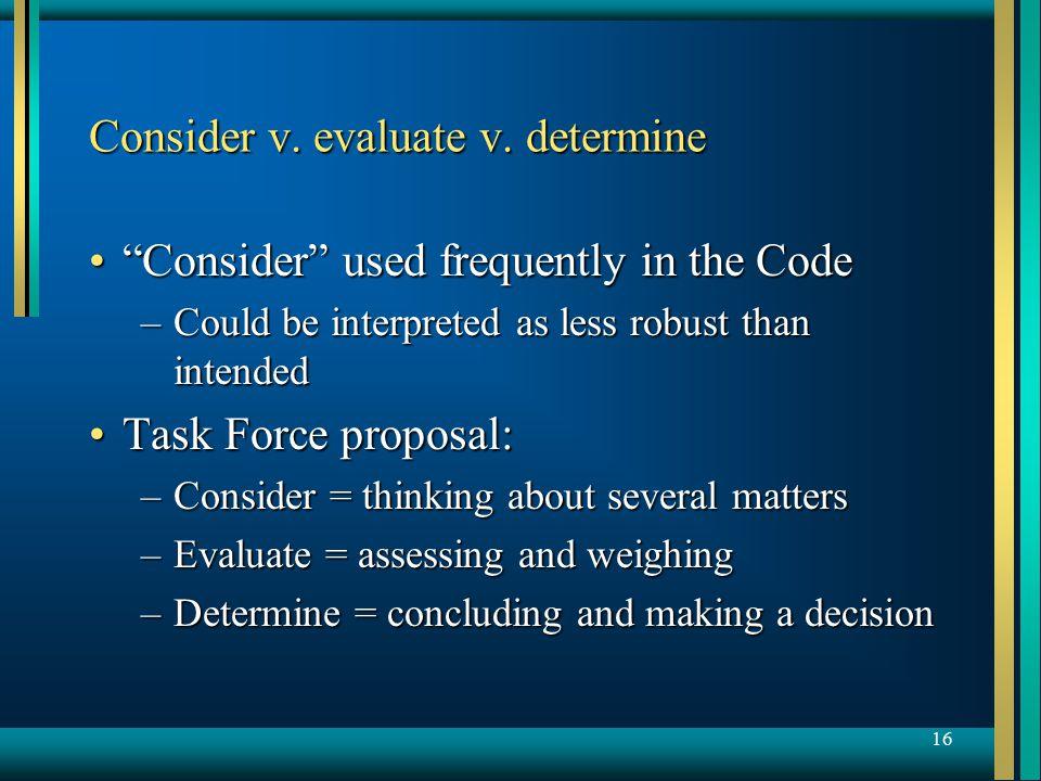 16 Consider v. evaluate v.