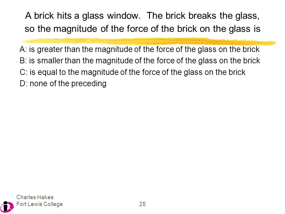Charles Hakes Fort Lewis College25 A brick hits a glass window.