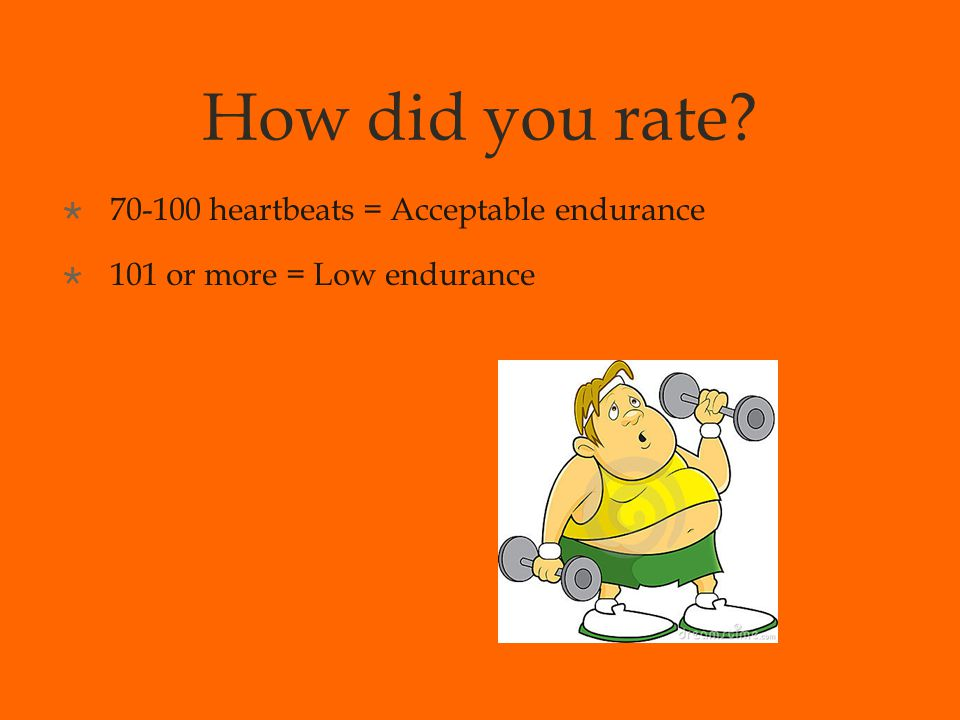 Muscle Strength & Endurance  MUSCLE STRENGTH = measure of the most weight you can lift or the most force you can exert at one time  MUSCLE ENDURANCE = measure of a muscle's ability to repeatedly exert a force over a prolonged period of time  Push ups, sit ups, stepping, etc  Resistance training – weight lifting