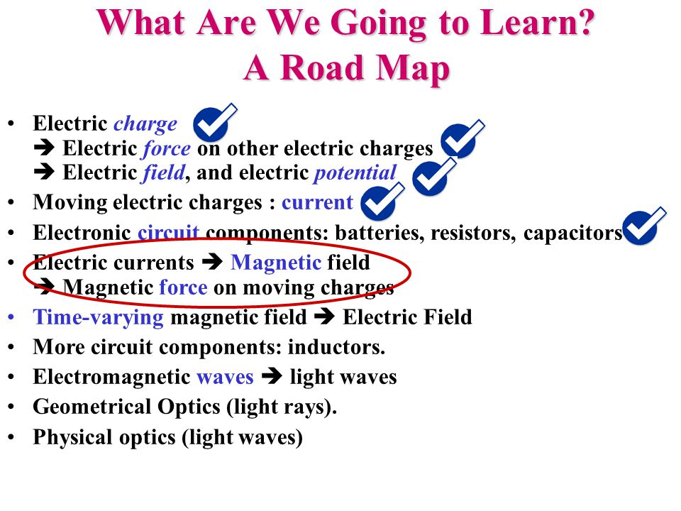 Electric Current: A Source of Magnetic Field I B Wire with current INTO page B Observation: an electric current creates a magnetic field Simple experiment: hold a current- carrying wire near a compass needle!
