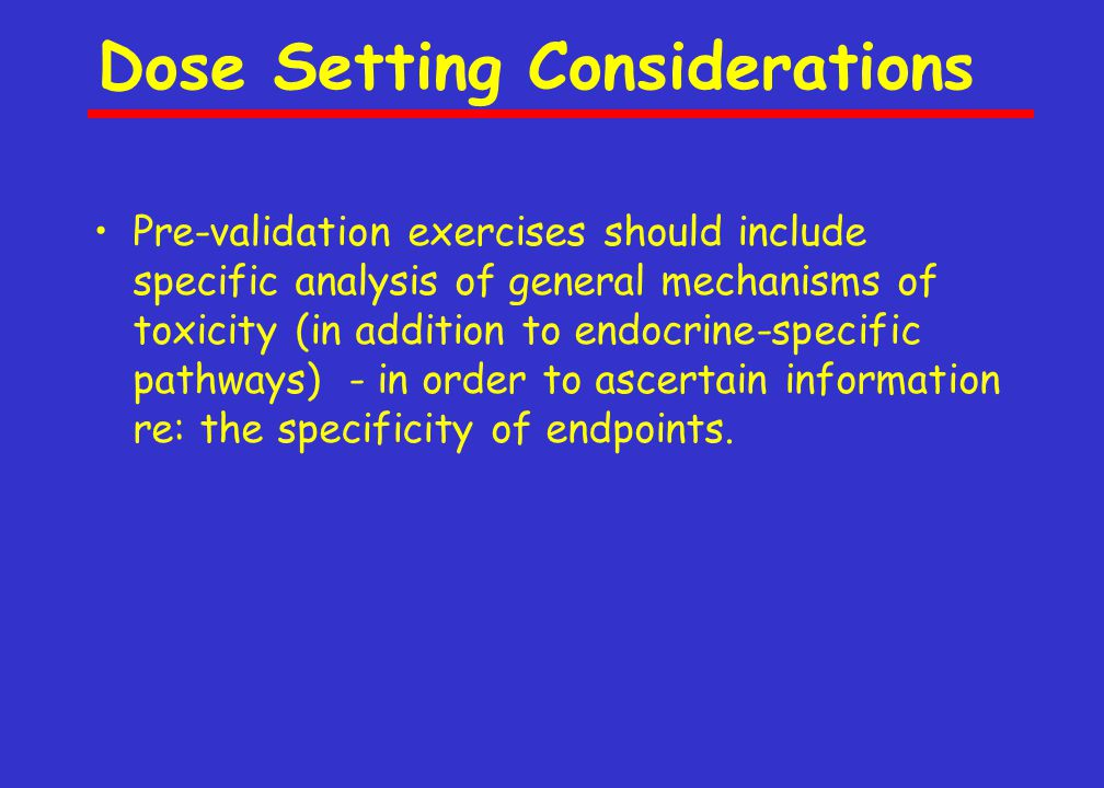 Substances for Validation Studies of Screening Assays 1.The hormonal activity and mechanism of hormonal effect of a substance should already be known from both in vitro and in vivo research methods.