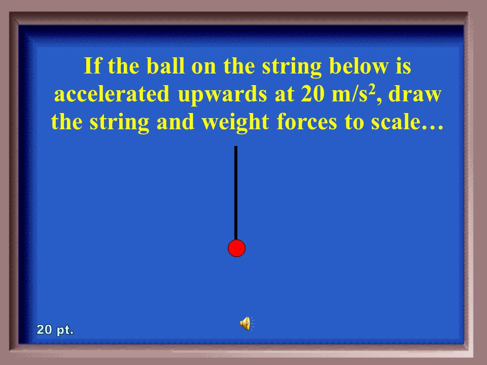 1-15A Draw a free-body diagram of the forces acting on the object below.