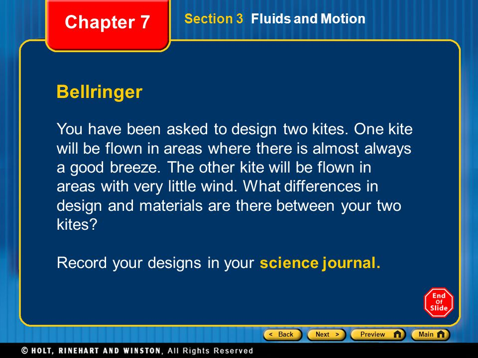 < BackNext >PreviewMain Bellringer You have been asked to design two kites. One kite will be flown in areas where there is almost always a good breeze