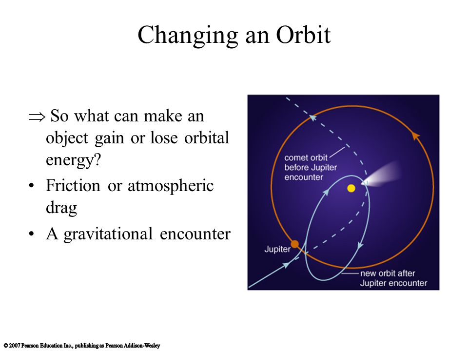  So what can make an object gain or lose orbital energy.