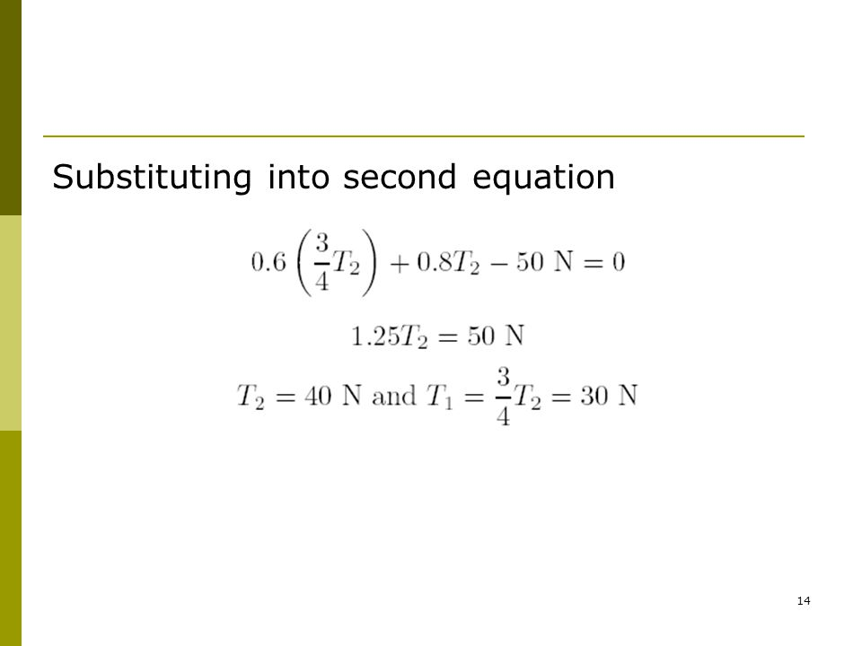 14 Substituting into second equation