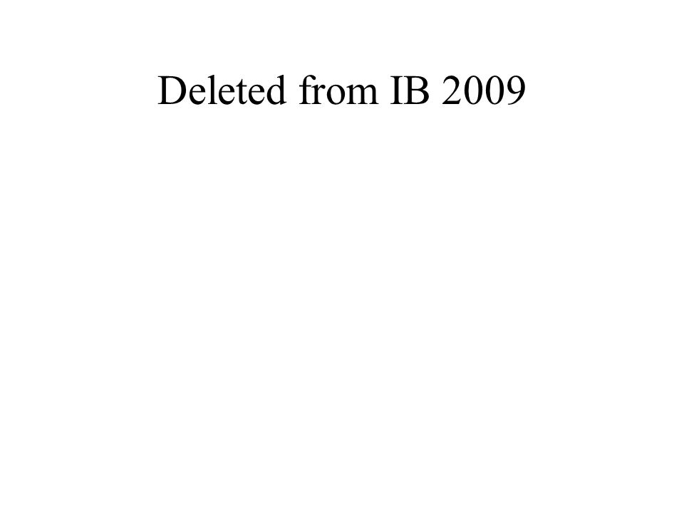 Deleted from IB 2009