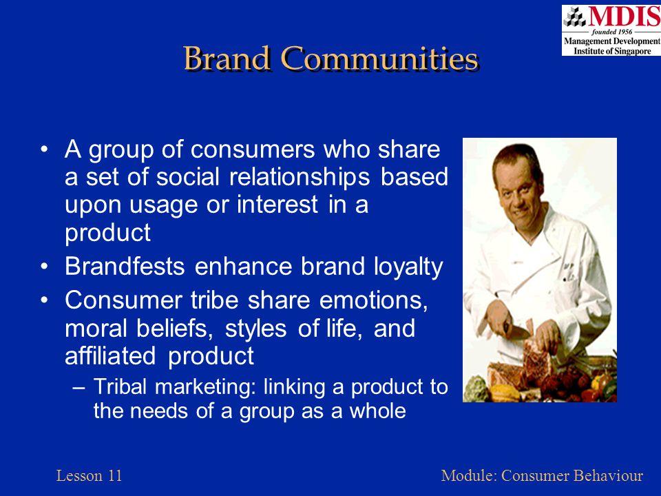 Lesson 11Module: Consumer Behaviour Membership vs.