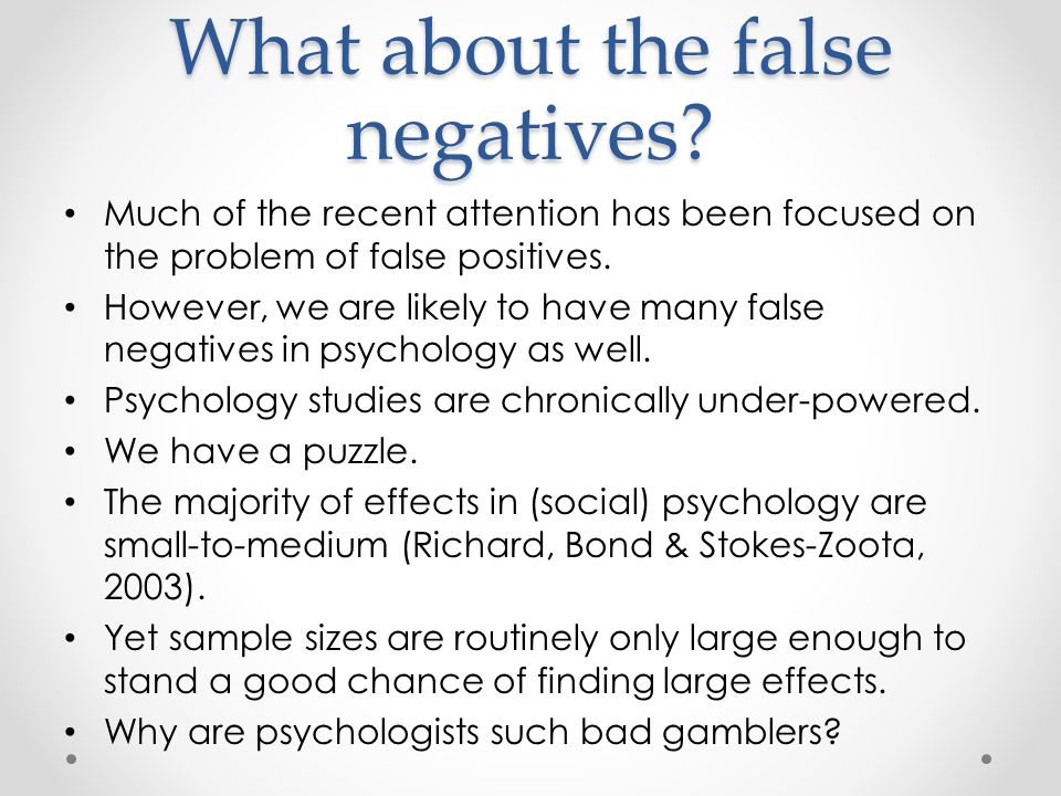 Much of the recent attention has been focused on the problem of false positives.