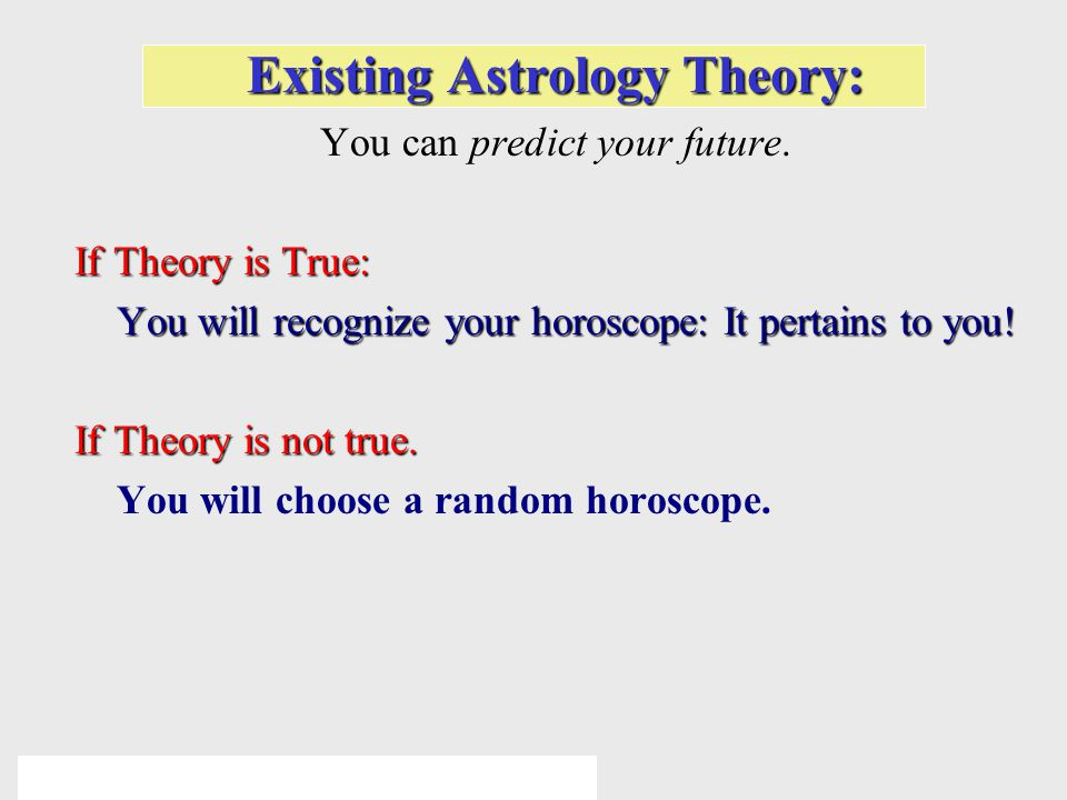 © 2005 Pearson Education Inc., publishing as Addison-Wesley Existing Astrology Theory: You can predict your future.