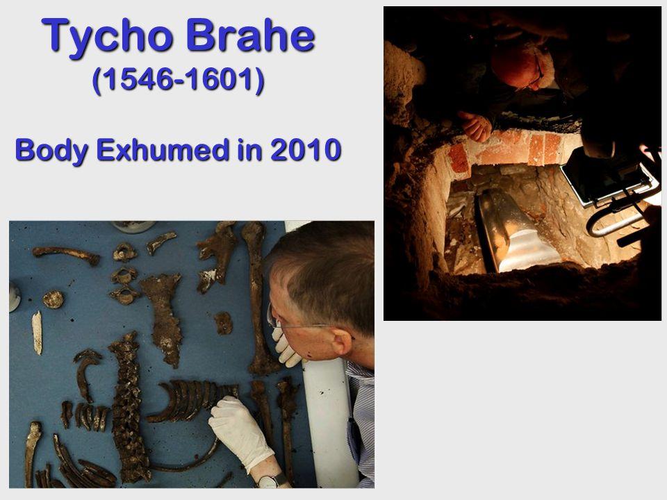 Tycho Brahe (1546-1601) Body Exhumed in 2010