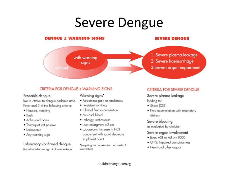 Severe Dengue healthxchange.com.sg
