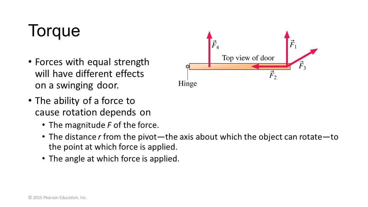 Section 7.4 Gravitational Torque and the Center of Gravity © 2015 Pearson Education, Inc.