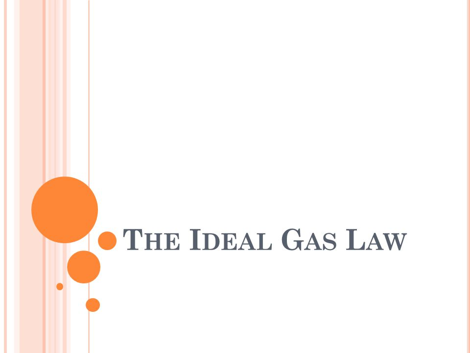 A COMBINATION OF LAWS : Boyle's Law k = PV at constant T and n Charles' Law V = bT at constant P and n Avogadro's Law V = an at constant P and T These laws show how the volume of a gas is dependent on the temperature, pressure, and number of moles present The ideal gas law can be used to solve almost any gas problem.