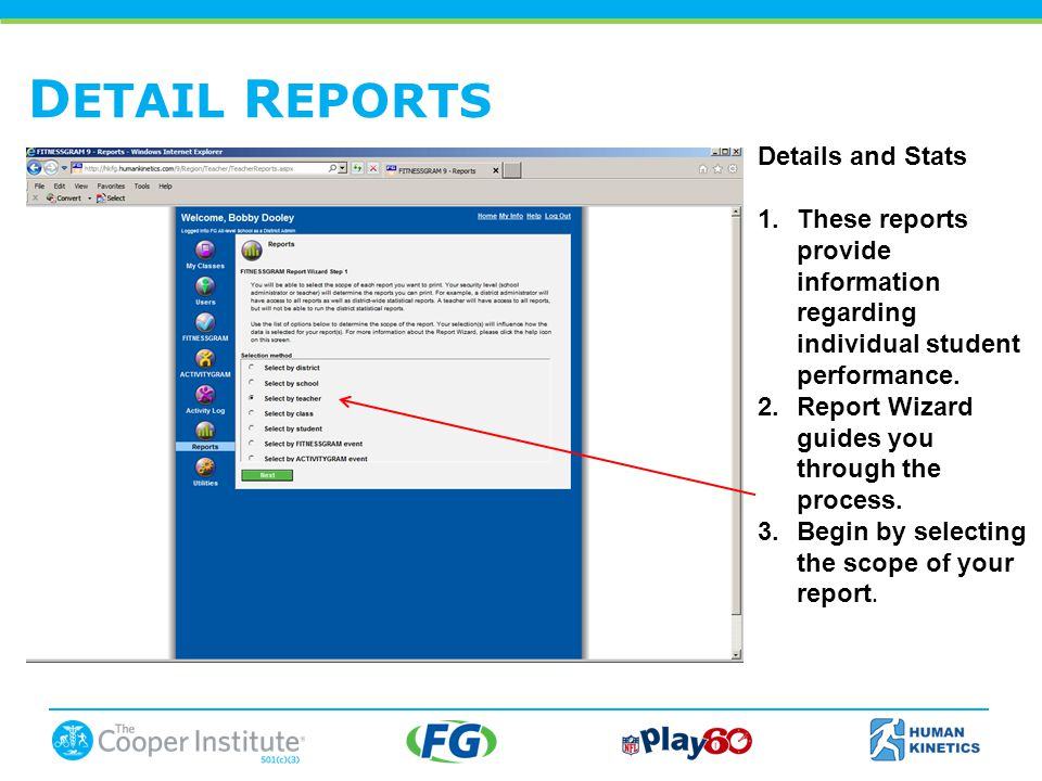 D ETAIL R EPORTS Details and Stats 1.These reports provide information regarding individual student performance.