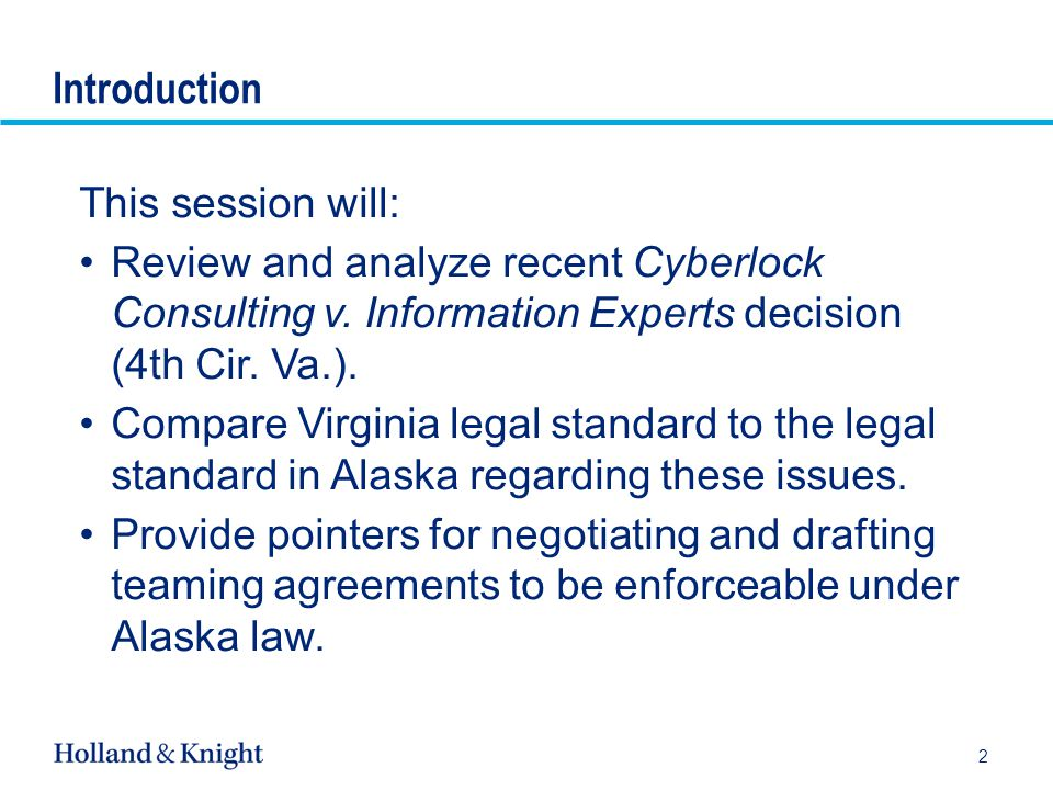 Legal Standard Applied in Cyberlock (cont'd) Virginia Law: Agreements to agree in the future are too vague and too indefinite to be enforced.