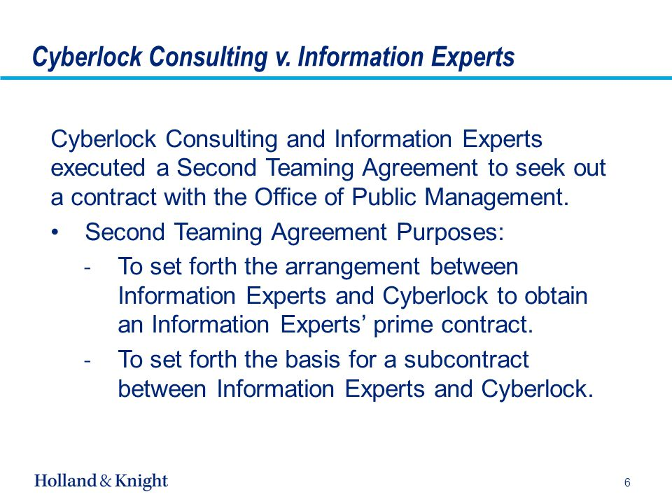 Post Cyberlock Teaming Agreements Negotiating and Drafting Enforceable Teaming Agreements Under Alaska Law 17