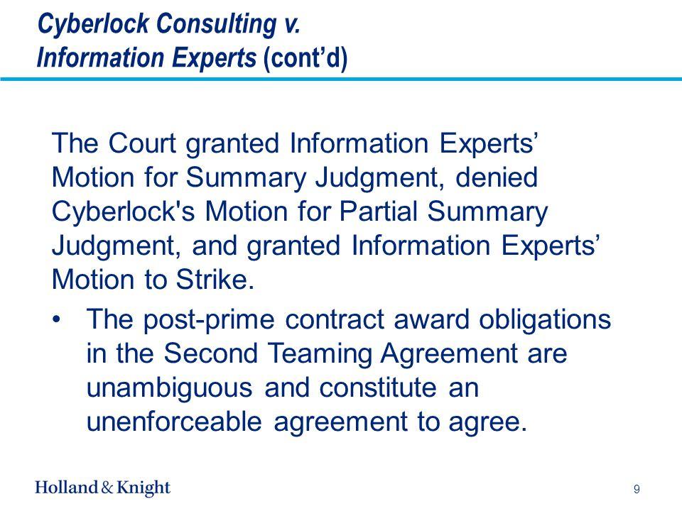 Subcontractors (cont'd) ˗ Exclusivity is a key element.