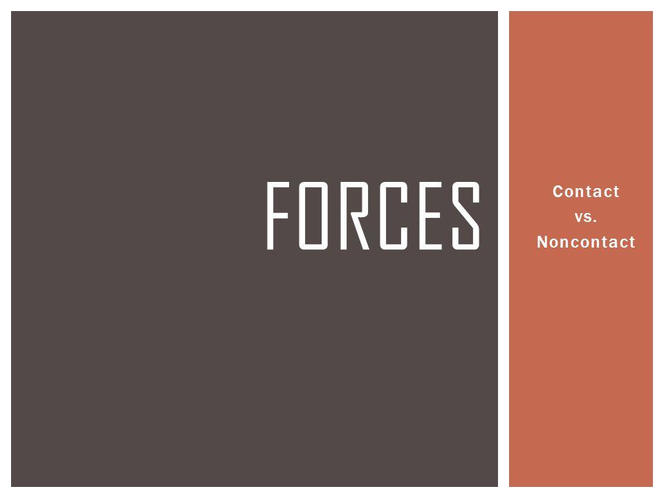Contact vs. Noncontact FORCES