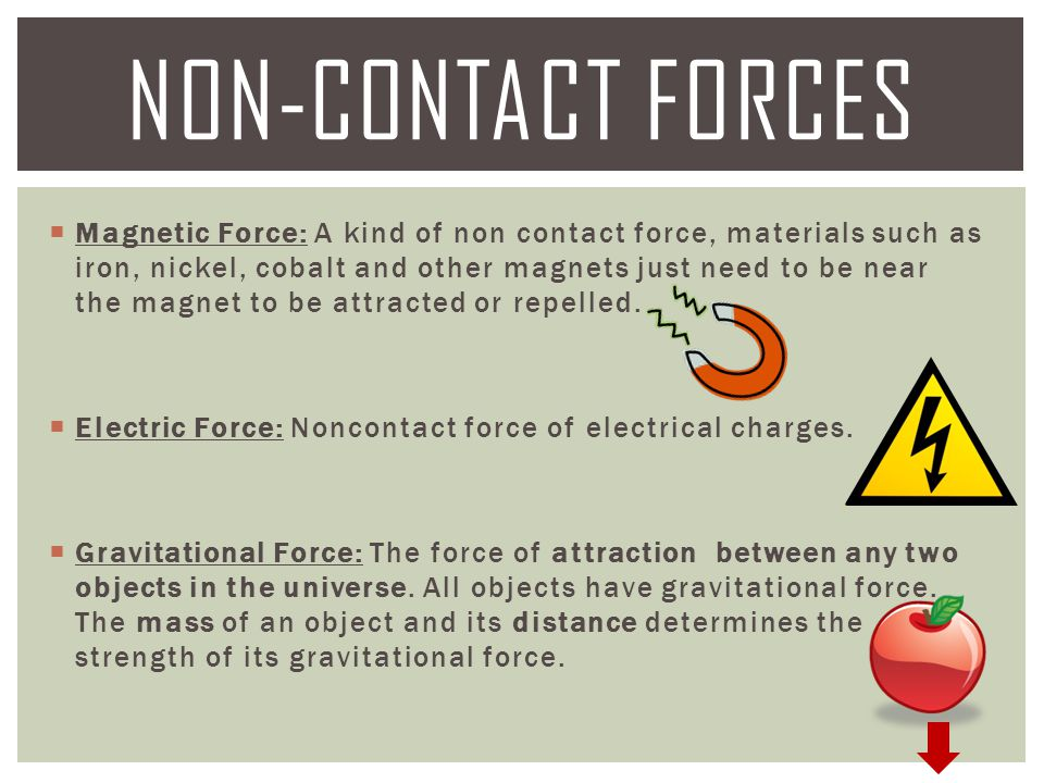  Magnetic Force: A kind of non contact force, materials such as iron, nickel, cobalt and other magnets just need to be near the magnet to be attracte