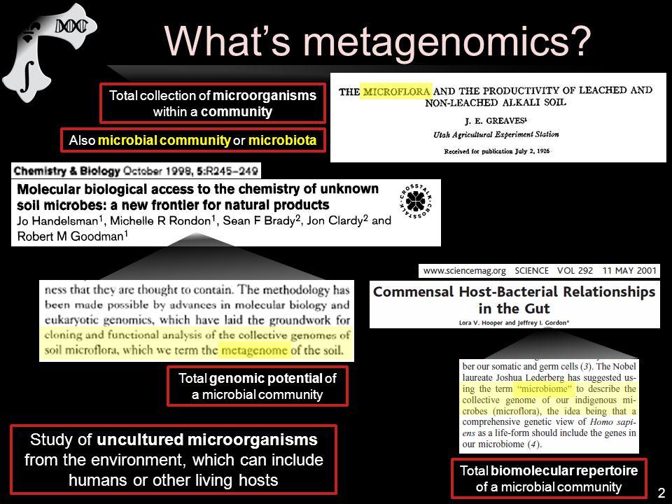 What's metagenomics.