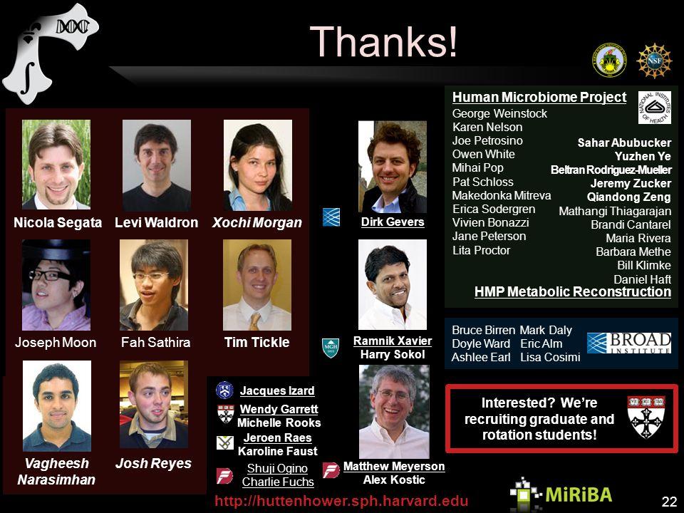 Matthew Meyerson Alex Kostic Ramnik Xavier Harry Sokol Thanks.