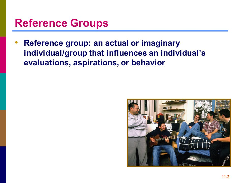 11-3 Reference Group Influences Reference group influences stronger for purchases that are: Luxuries rather than necessities Socially conspicuous/visible to others