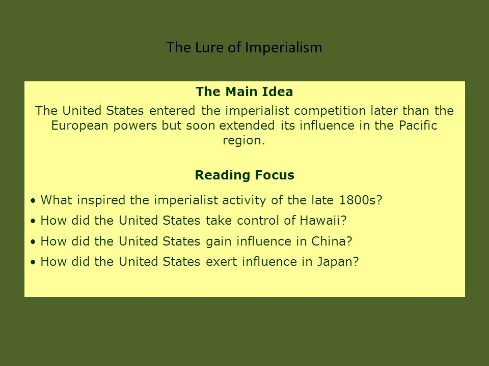 Several industrialized nations competed to gain territory throughout the world.