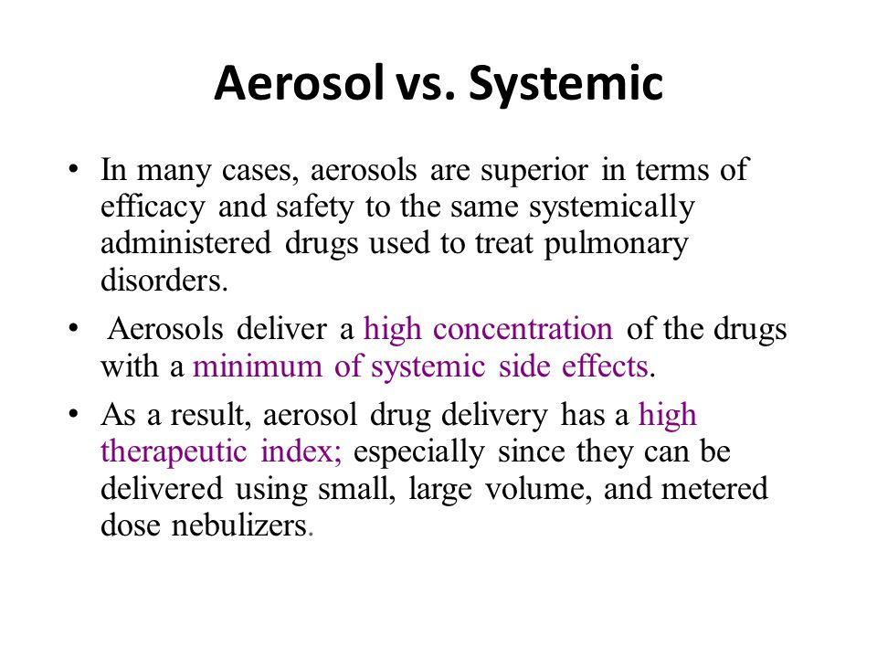 Aerosol vs.
