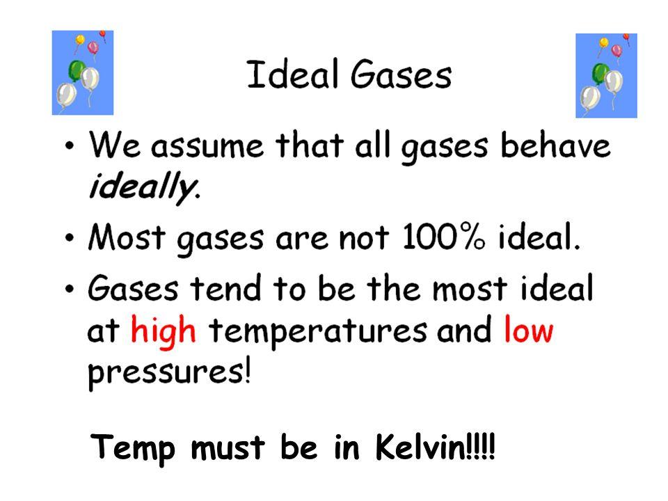 Temp must be in Kelvin!!!!