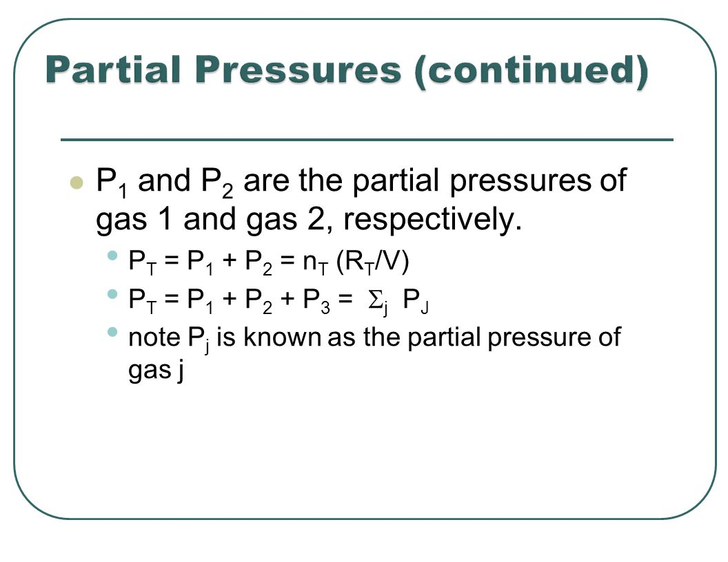 P 1 and P 2 are the partial pressures of gas 1 and gas 2, respectively.