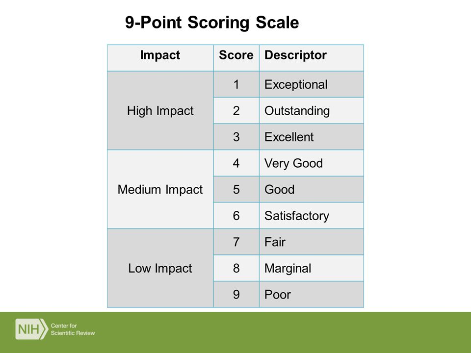 9-Point Scoring Scale