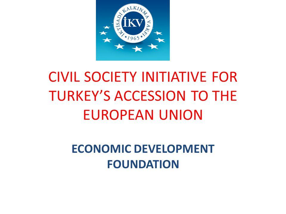 CIVIL SOCIETY INITIATIVE FOR TURKEY'S ACCESSION TO THE EUROPEAN UNION ECONOMIC DEVELOPMENT FOUNDATION