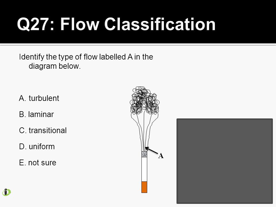 Identify the type of flow labelled A in the diagram below.