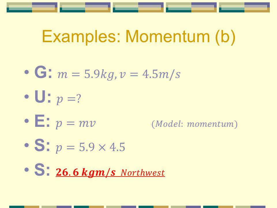 Examples: Momentum (b)