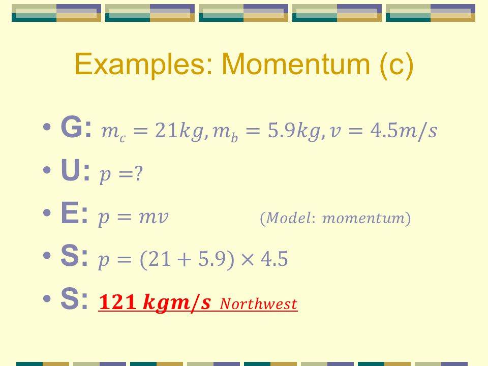 Examples: Momentum (c)