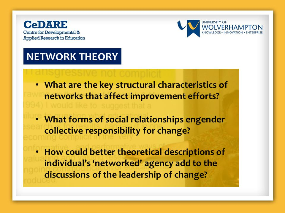 WHY DO WE NEED BETTER NETWORK THEORIES .